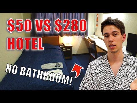 $50 Hotel Vs. $280 Hotel In Tokyo | Japanese Hotel Room Comparison