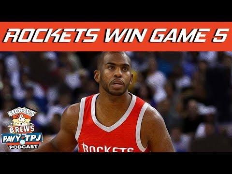 Rockets Stun Warriors in Game 5 Win | Hoops N Brews