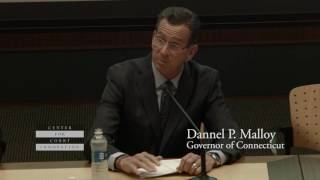 Conn. Governor Malloy Addresses Justice Summit