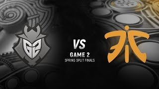 G2 vs. FNC | Final Game 2 | EU LCS Spring Split | G2 Esports vs. Fnatic (2018)