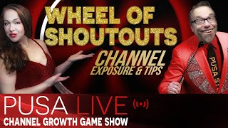 Promote Your YouTube Channel Live - Let's spin the Wheel of Shoutouts Live on Puša Studios! EU