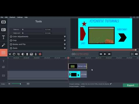 how to make green screen video on movavi