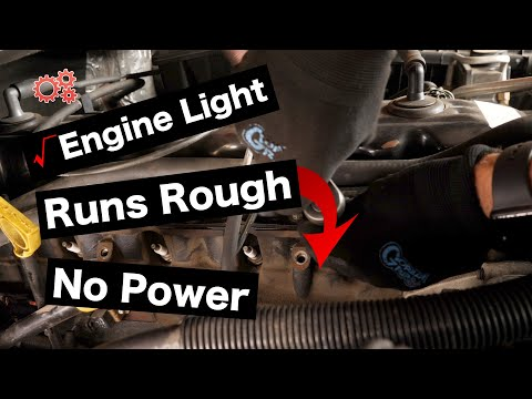 Diagnose and Fix Engine Misfires - Flashing Check Engine Light , Rough Running Idle , Low Power