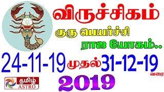 September To December விருச்சிகம் ராசி  Viruchigam Rasi Palangal 2019  Scorpio  Viruchigam Rasi