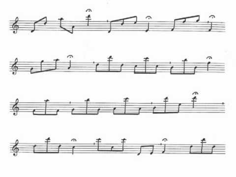 Music Notation of Dorian Music