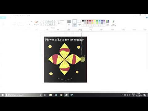 How to Draw a flower in MS paint  |MS PAINT में लोगो | 3D logo drawing |how to draw