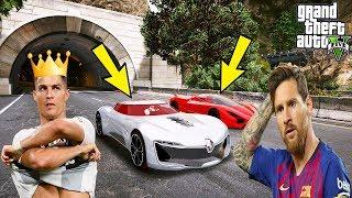 Ronaldo Ve Messİ Çilgin SÜper Arabalarla YariŞiyor!(ronaldo Kaza Yapti) - Gta 5