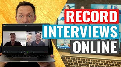How to Record Interviews ONLINE (Mac & PC!)