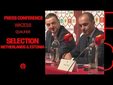 Press Conference Roberto Martinez: Selection Belgian Red Devils - Netherlands and Estonia