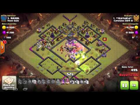 Catalans 2014D vs Free iran - Th11 3 Stars - QW + Gibova - Clash of Clans