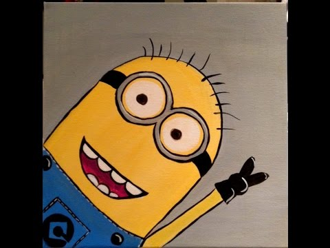 How To Paint a Minion: An Acrylic Painting Tutorial
