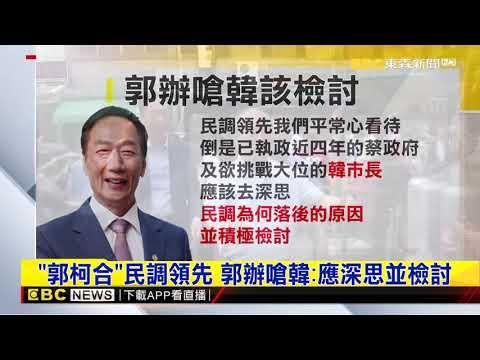 「郭柯合」領先藍綠 郭辦嗆韓國瑜「應檢討」