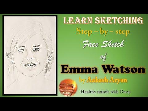 Emma watson sketch by Akash Aryan