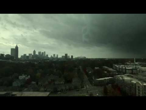 Timelapse: Strong storms move across Atlanta