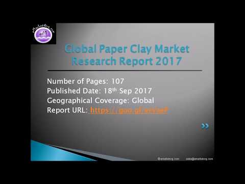 Paper Clay Market Share, Growth, Region Wise Analysis of Top Players