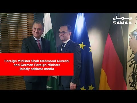 Foreign Minister Shah Mehmood Qureshi and German Foreign Minister jointly address media