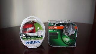 Philips LongLife EcoVision vs OSRAM Ultra Life