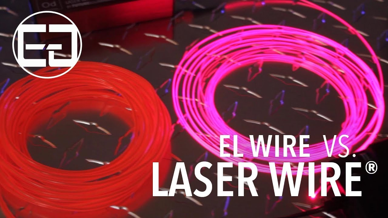 Ellumiglow.com - EL Wire vs. Laser Wire® - YouTube