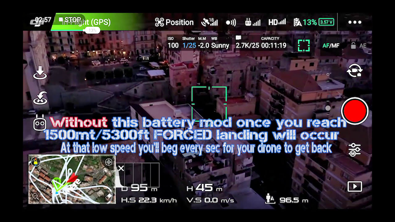 Dji Drones Tutorial | Battery Mod | Remove: Annoying Beep,Forced Landing &  Sky Limit  Simi Travels 07:24 HD