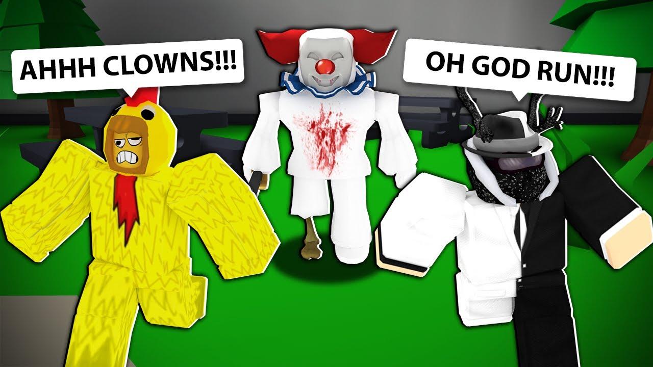 This is what happens when you visit the killer clown's amusement park... (Roblox)