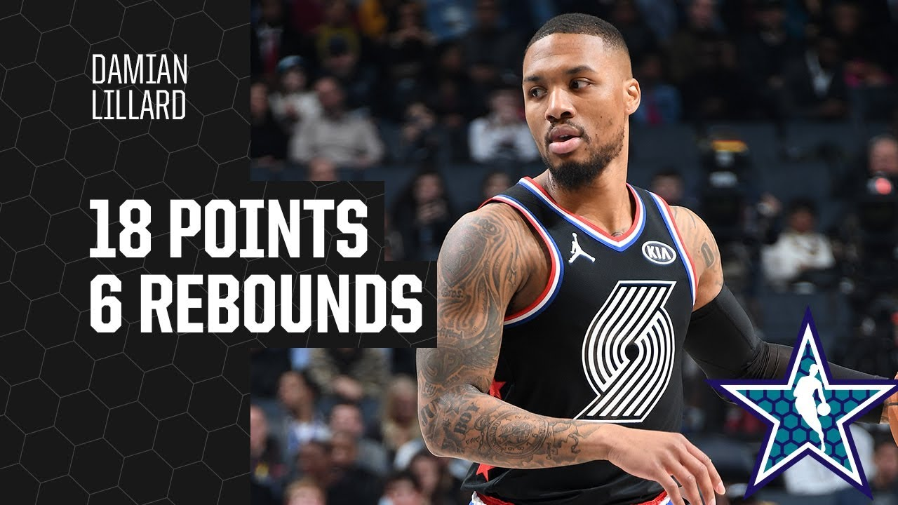 sneakers for cheap 46d21 012d6 Damian Lillard 2019 All-Star Game Highlights (18pts, 6 reb, 6 threes)