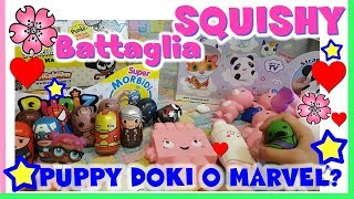 SQUISHIAMOLI TUTTI!!  PUPPY DOKI e PUNIZ MARVEL!! By Lara e Babou