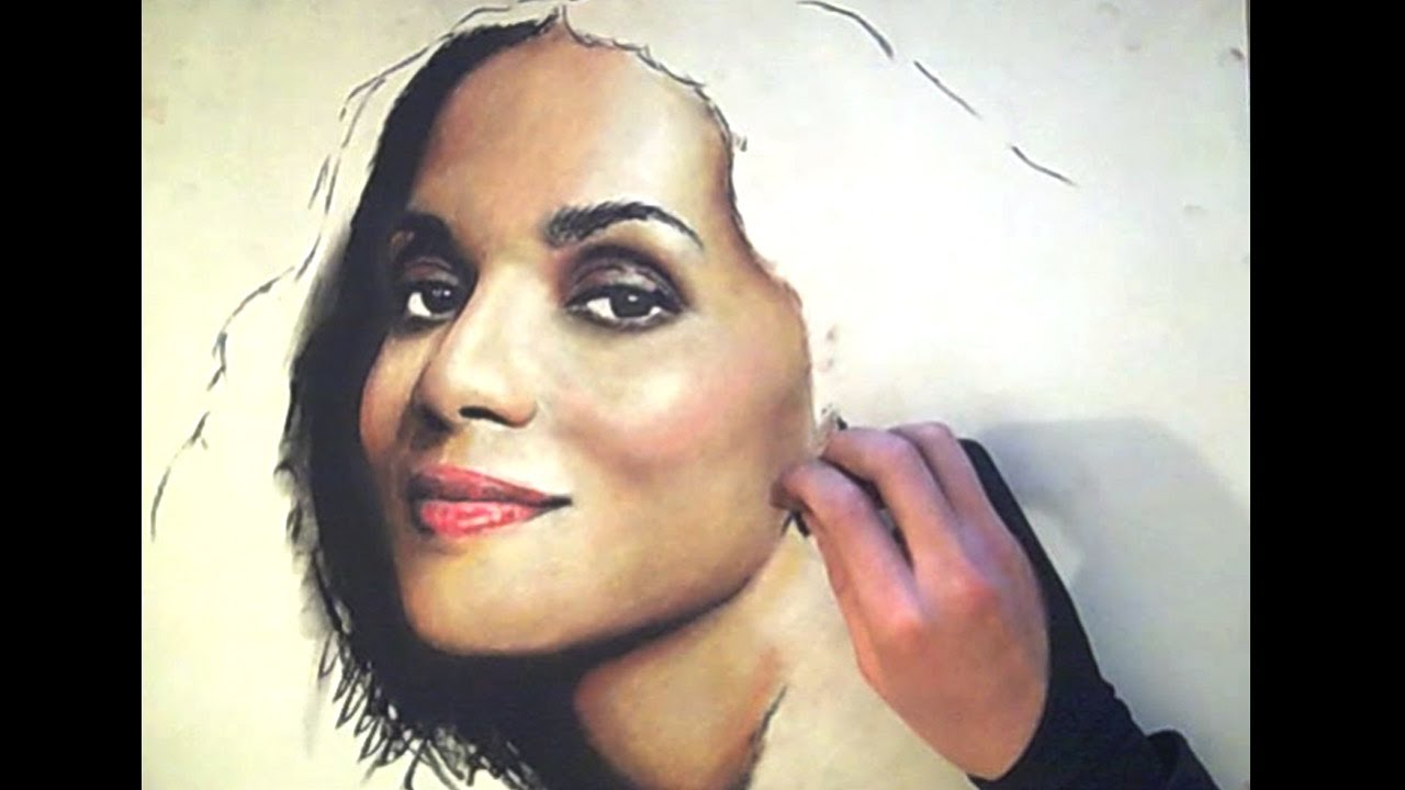 2nd Time This Artist Tried Color Halle Berry Pastel Portrait Youtube