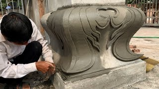 Amazing Techniques Construction Of Concrete Pillars With Sand And Cement Work