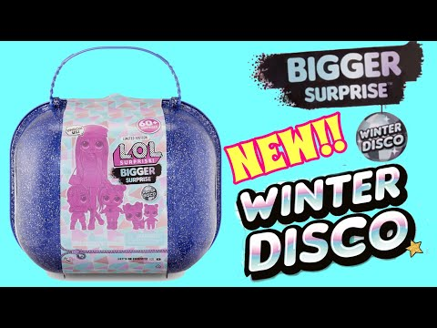 NEW!! LOL SURPRISE BIGGER SURPRISE WINTER DISCO! OMG DOLL!!