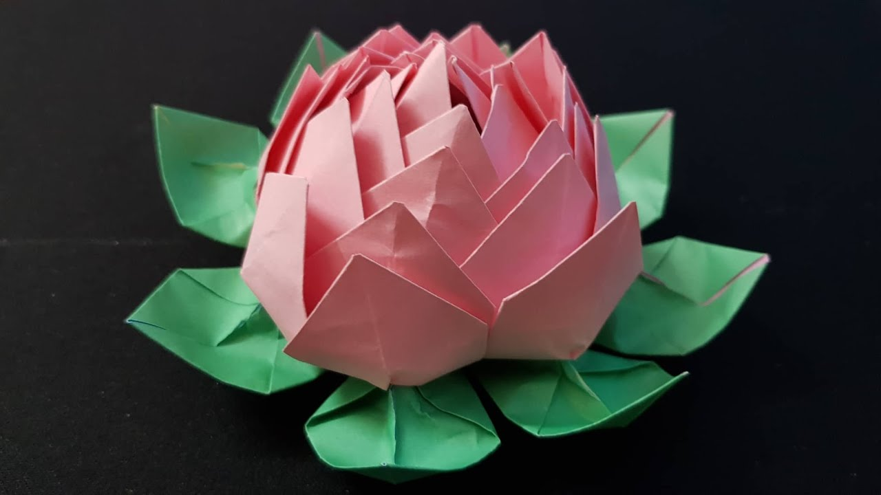 ORIGAMI – Gấp Bông Hoa Sen #1 || How To Make Origami Lotus Flower