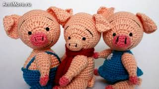 Амигуруми: схема Поросёнка. Игрушки вязаные крючком - Free crochet patterns.