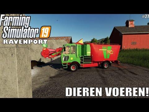 'DIEREN VOEREN' Farming Simulator 19 Ravenport #27