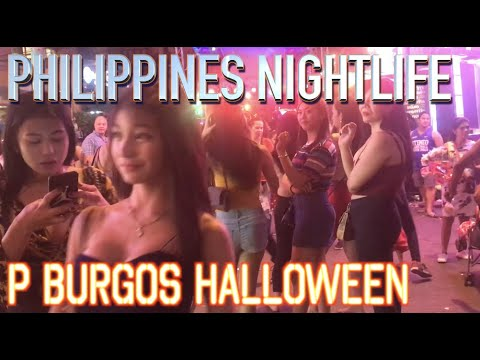 P Burgos Street Halloween Party  Makati Manila Philippines