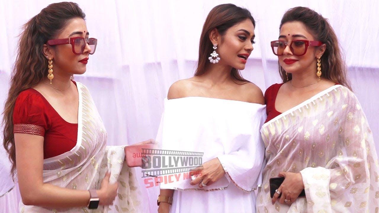 Uttaran Actress Tina Dutta and Sreejita De Attends Anurag Basu Host 25th Saraswati Puja