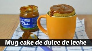Mug Cake de dulce de leche. Receta para microondas