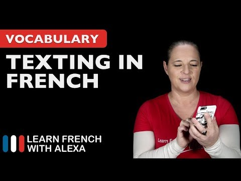 I will send you a text in french