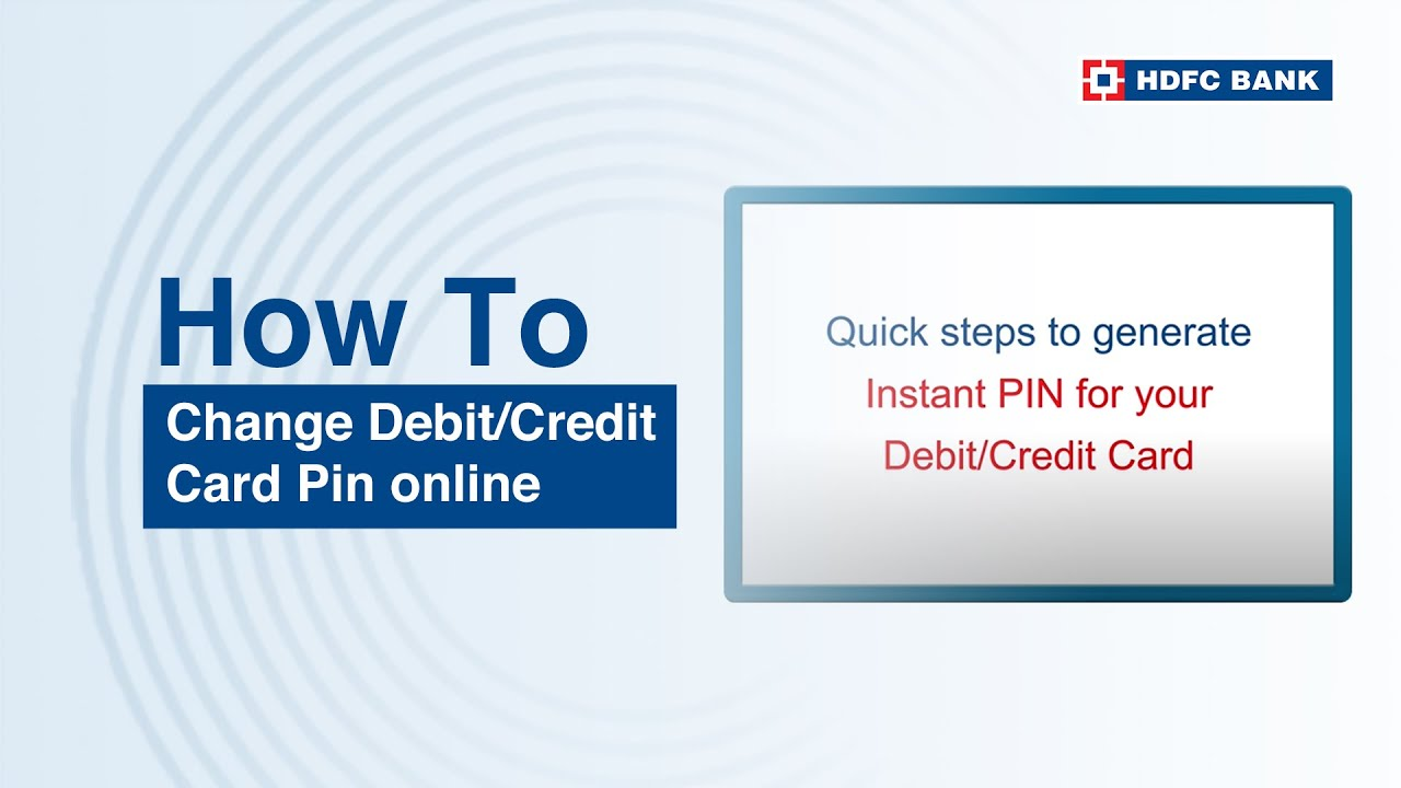 Hdfc forex card pin lost