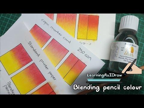 Blending coloured pencils: pencil blenders and zest it pencil blend