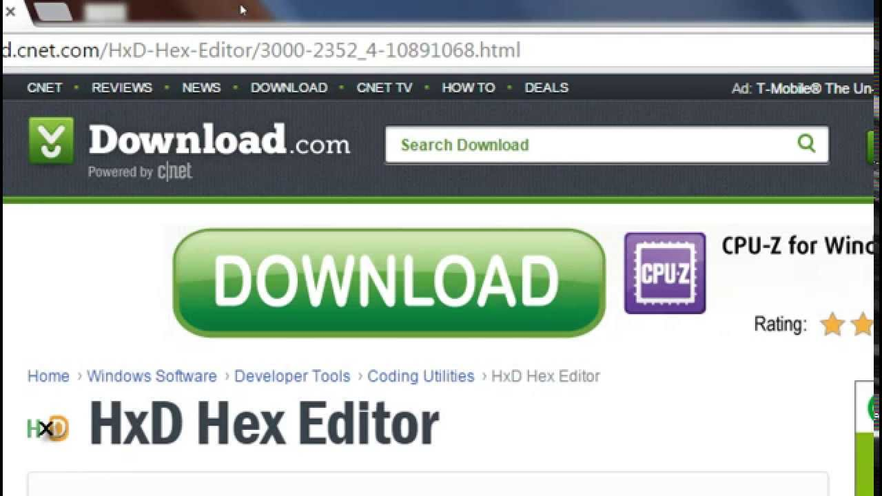 How to download HXD hex editor - YouTube