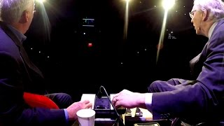 Walter Isaacson and John Hockenberry Settle Their Pong Rivalry At 'The History Of The Future&#0