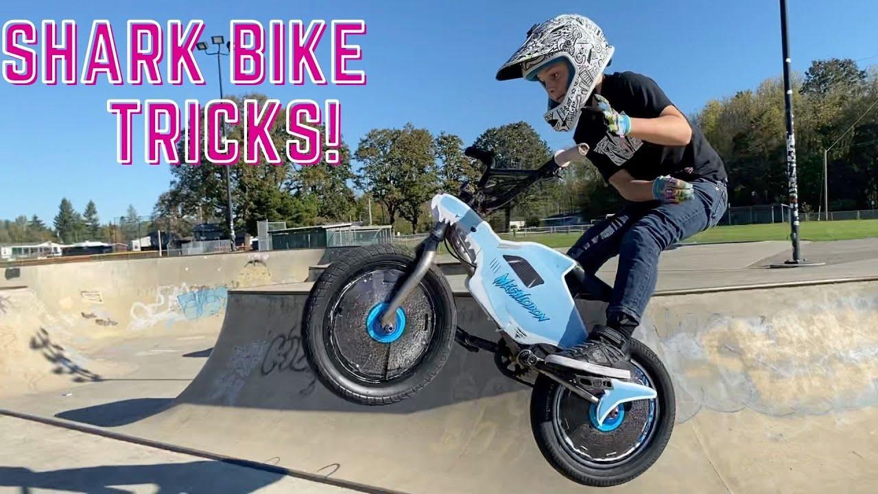 Riding a Shark Bike! Monster Jam Megalodon RC vs Megalodon BMX!!