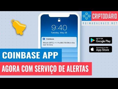 Coinbase APP – Novo Serviço de Alertas