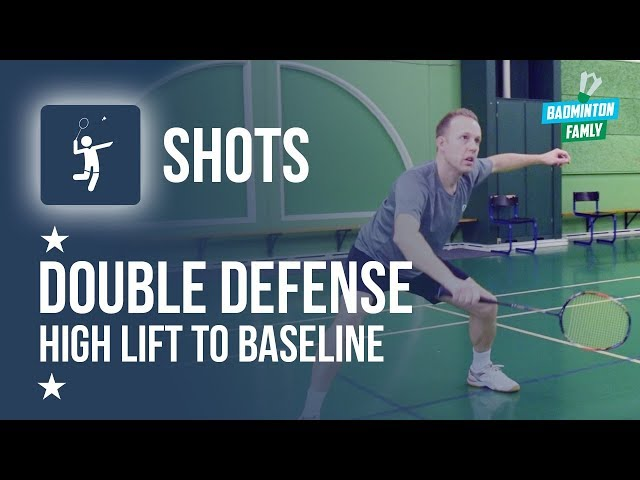 SMASH DEFENSE in DOUBLES TUTORIAL, Badminton