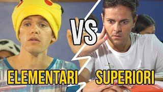 ELEMENTARI VS SUPERIORI - Le Differenze - iPantellas