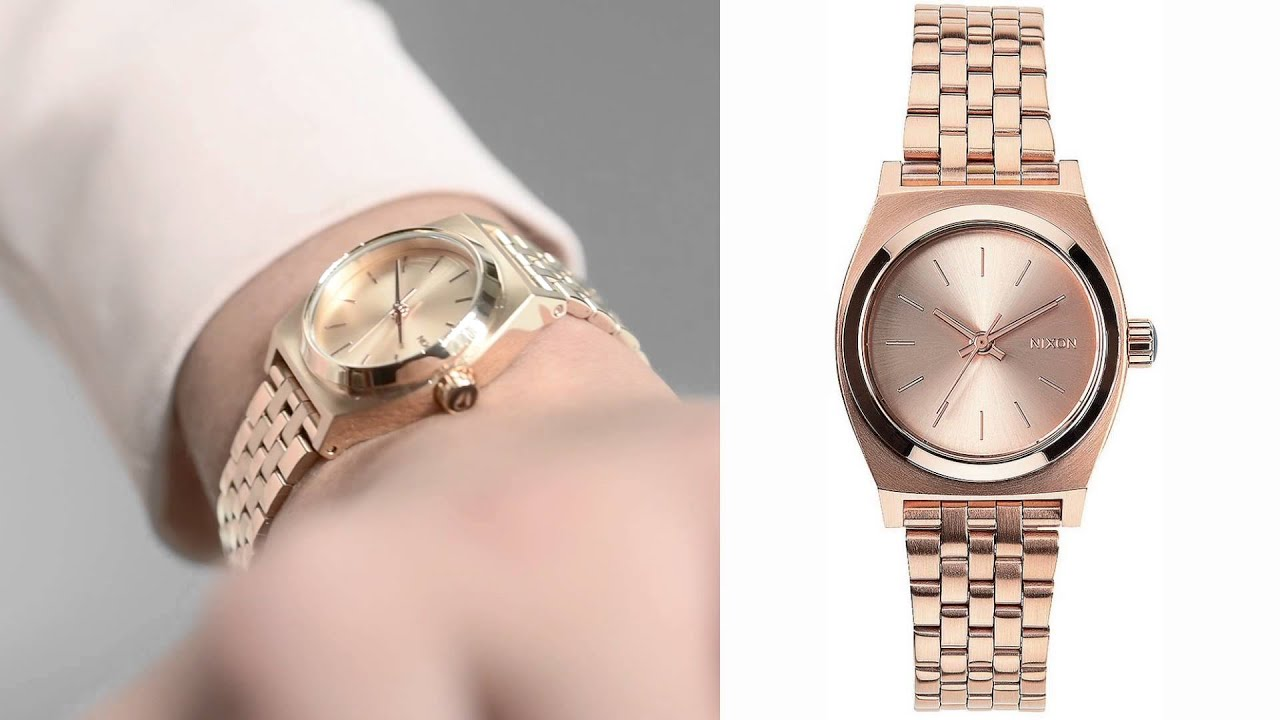 adult time milanese pale pink teller product fashion nixon teen watch watches