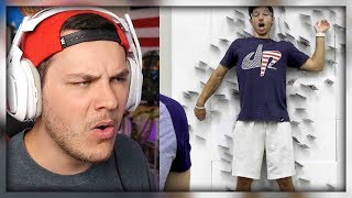 Card Throwing Trick Shots | Dude Perfect - Reaction