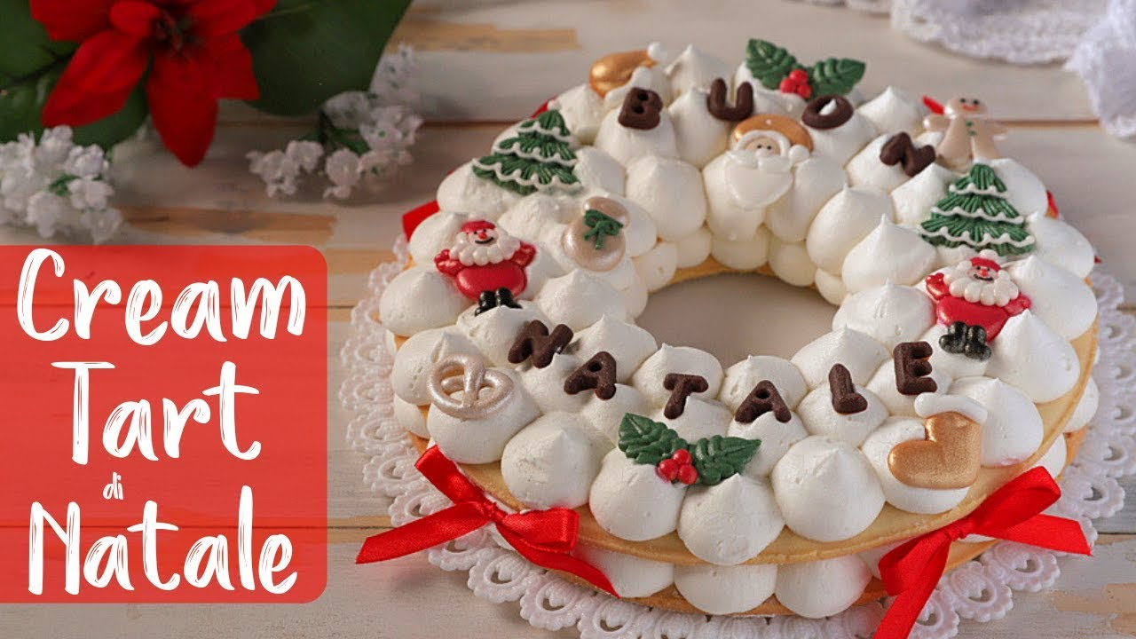 Decorazioni Natalizie X Dolci.Cream Tart Di Natale Ricetta Facile Di Benedetta Christmas Cream Tart Cake Easy Recipe