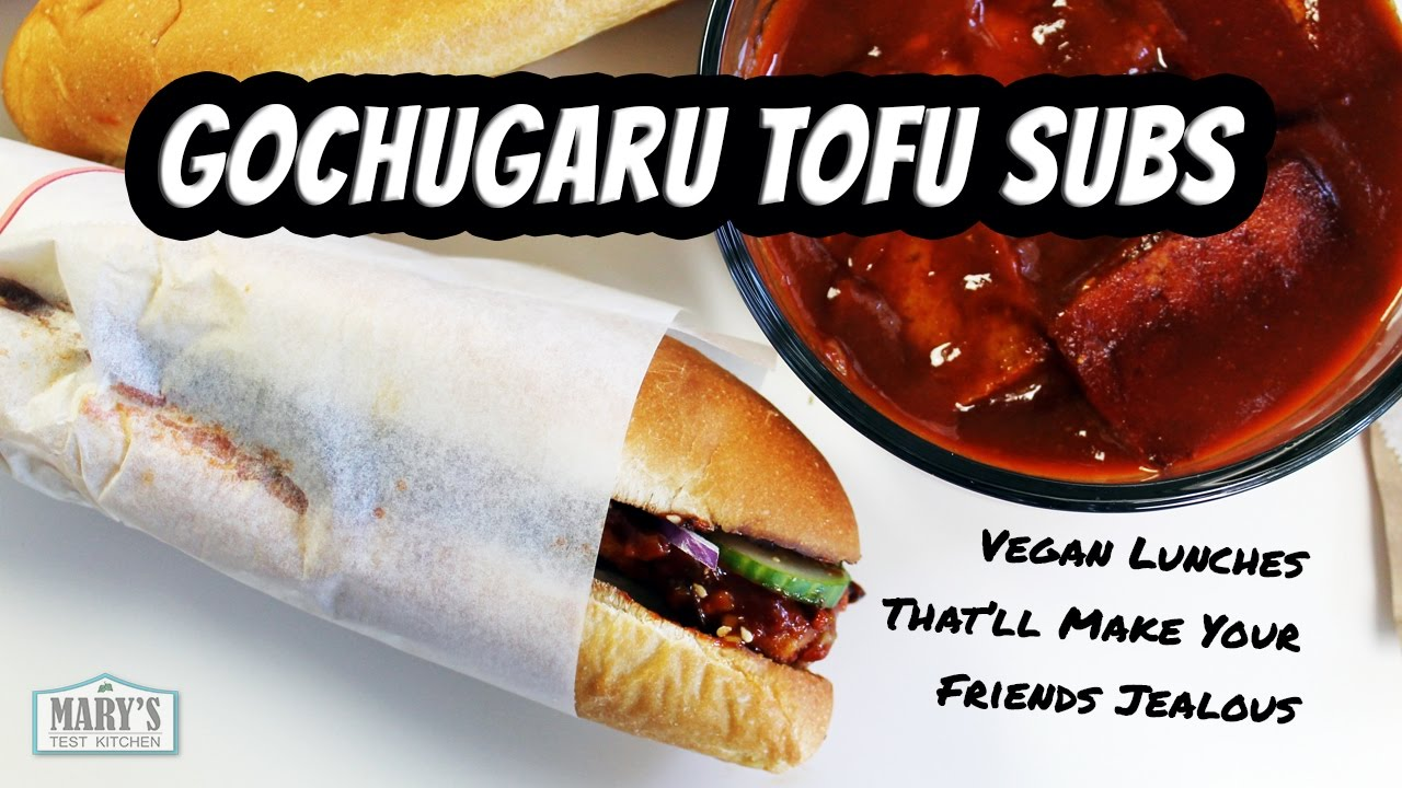 GOCHUGARU TOFU SUBS   Vegan Recipe by Mary's Test Kitchen