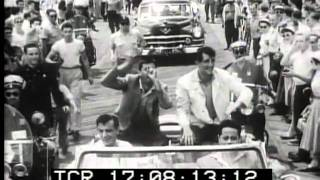 "Dean Martin Jerry Lewis Janet Leigh ""Living it Up"" Atlantic City 1954 newsreel"