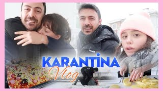 Karantina Vlog 🎥 Kar Savaşı, Kahvaltı, Pizza Tarifi ve Daha Neler Nelerr🕺
